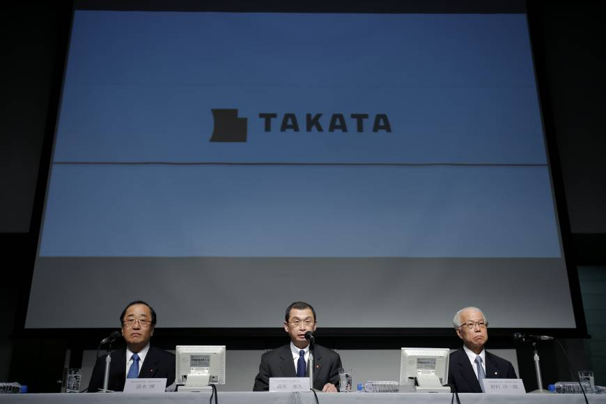 Air bag maker Takata to meet with carmakers, gauge willingness for financial aid