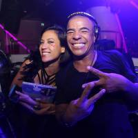 On the decks: DJ Gaby Endo (left) and DJ Erick Morillo attend the opening of the Pacha nightclub in Macau on Jan. 16. | AFP-JIJI/KESTER/PACHA MACAU