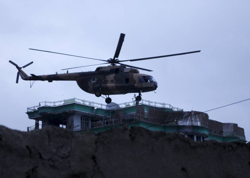 Afghan troops descend onto building to put down attack near Indian Consulate