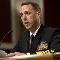 In this July 30 file photo, Navy Adm. John Richardson testifies on Capitol Hill in Washington. In his blueprint for a stronger Navy, the sea service's new top boss, Richardson, is blunt about what he thinks matters most: nuclear punch. | AP
