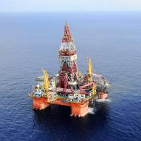The Haiyang Shiyou 981 oil rig, the first deep-water drilling rig developed in China, is pictured at 320 kilometers (200 miles) southeast of Hong Kong in the South China Sea in May 2012. | XINHUA NEWS AGENCY / AP