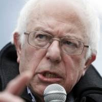 Sen. Bernie Sanders pledges to break up the biggest banks and financial firms within a year of being elected president. | AP