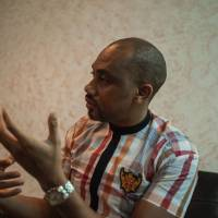 Jide Martins, the founder of Comic Republic, speaks in an interview on Jan. 8 in Lagos. | AFP-JIJI