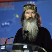 Phil Robertson speaks in New Orleans in 2014. Republican presidential candidate, Sen. Ted Cruz has bagged the endorsement of 'Duck Dynasty' star Phil Robertson after going hunting with him. | AP