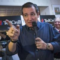 Republican presidential candidate, Sen. Ted Cruz speaks during a campaign stop at the Freedom Country Store Tuesday in Freedom, New Hampshire.   AP