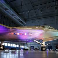 A Lockheed Martin F-35 Lightning II fighter jet is seen in its hanger at Patuxent River Naval Air Station in Maryland in October. | REUTERS