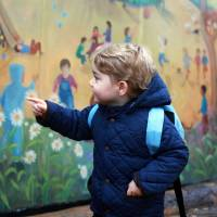 Britain's Prince George, 2, has first day at nursery