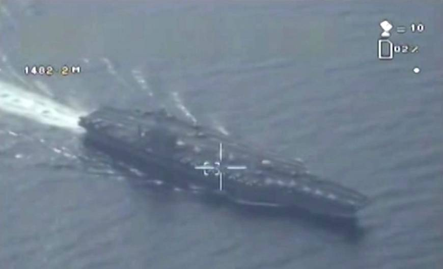 Iran flies unarmed military drone over U.S. aircraft carrier