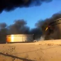 Oil storage tanks set ablaze amid Islamic State attack on key north Libya facilities