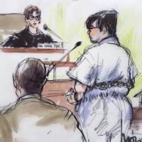 Enrique Marquez, accused in the San Bernardino attack, is shown appearing for his arraignment in federal court in this sketch from Riverside, California, Wednesay. Marquez, 24, was charged with conspiring with San Bernardino gunman Syed Farook in 2011 and 2012 to support a terrorist attack that was never carried out. | REUTERS