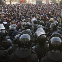 Ex-Soviet Moldova mired in crisis as protests over corruption heat up