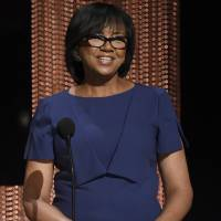 Academy President Cheryl Boone Isaacs announces the Academy Awards nominations at the 88th Academy Awards nomination ceremony in Beverly Hills, California, on Jan. 14. | CHRIS PIZZELLO/INVISION/AP