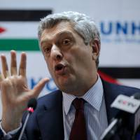 Filippo Grandi, the United Nations High Commissioner for Refugees, addresses the press in his first visit to Jordan after being appointed to the post, at the Zaatari refugee camp, Mafraq, Jordan, Monday. The world should find a fairer formula for sharing the burden of Syria's crisis, including taking in tens of thousands of refugees from overwhelmed regional host nations, he said. | AP