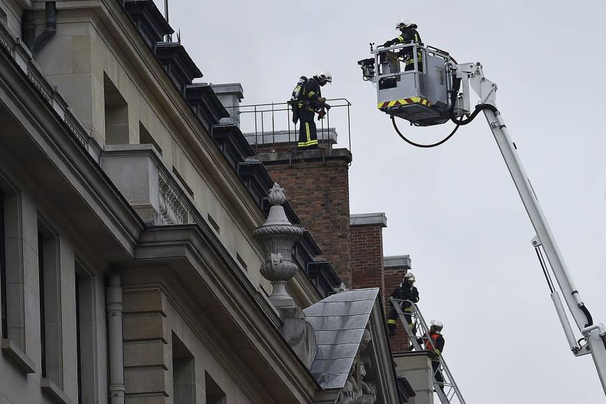 Fire rages on top floor of Ritz Carlton in Paris
