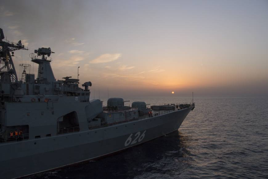 Russia shows off naval muscle off Syria's coast