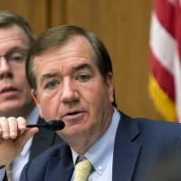 House Foreign Affairs Committee Chairman Rep. Ed Royce, speaks Jan. 7 on Capitol Hill in Washington. The House isn't waiting for confirmation of North Korea's hydrogen-bomb test claim before voting on legislation that expands sanctions on Pyongyang and specifically seeks to deny the hard currency lawmakers say it needs for its weapons programs. Royce, the bill's author, described the Obama's administration's policy on North Korea as one of 'strategic patience' that has failed to curb its development of nuclear weapons and the long-range missiles to deliver them. | AP