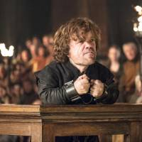 Peter Dinklage plays Tyrion Lannister in a scene from 'Game of Thrones.' | HELEN SLOAN / HBO / AP