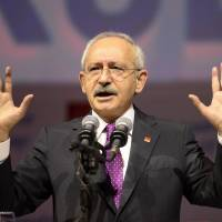 Kemal Kilicdaroglu, the leader of Turkey's main opposition Republican People's Party, delivers a speech during the 35th General assembly of the party in Ankara on Jan. 16. | AFP-JIJI