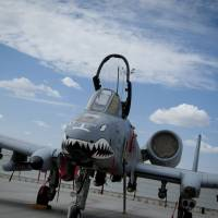 An A-10 Warthog sits on the flightline at Kandahar Airfield, Afghanistan, in 2011. The US Air Force will delay retiring the A-10 — a stalwart attack aircraft beloved by ground troops — because of the ongoing fight against the Islamic State group, a military news site reported Wednesday. | SRA COREY HOOK / U.S. AIR FORCE / AFP-JIJI