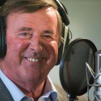 This file photo from September 2009 shows TV and radio presenter Terry Wogan taking part in a charity recording of a Children in Need album at Abbey Road studios in west London. Wogan died of cancer on Sun day. | AFP-JIJI