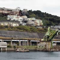The owners of the defunct coal mine on Ikeshima Island in Nagasaki hope to capitalize on recent interest in Japan's industrial history. | KYODO