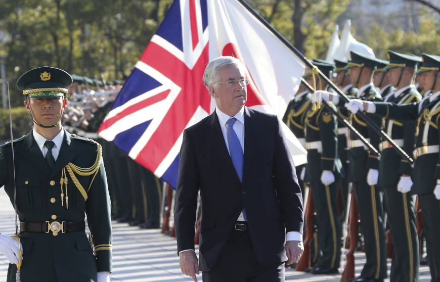 Defense chiefs of Japan, Britain eye latter's stronger Asia involvement