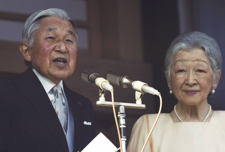 Emperor extends New Year's greetings to well-wishers