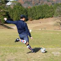 Fore! Japanese getting a kick out of 'footgolf'