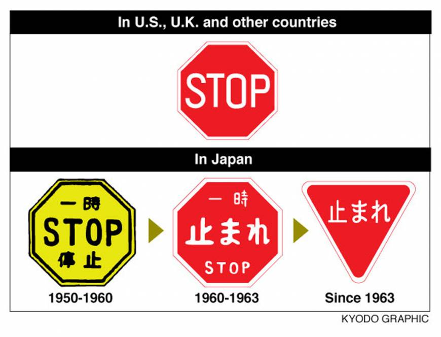 Design of Japanese stop signs might change ahead of Olympic tourism surge