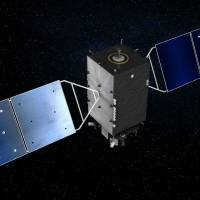 Japan's first quasi-zenith satellite, the Michibiki, is portrayed in this artist's conception. The satellite was launched in 2010. | QUASI-ZENITH SATELLITE SYSTEM WEBSITE