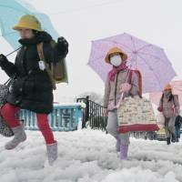 Snowfall causes transport chaos in eastern, northern Japan; 250 people hurt