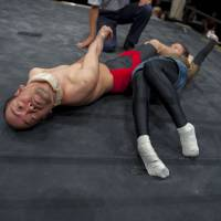 Wrestling with Japan's physically challenged, literally