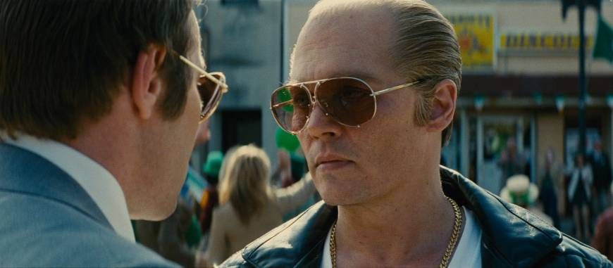 Johnny Depp as a sociopathic crime lord in 'Black Mass'