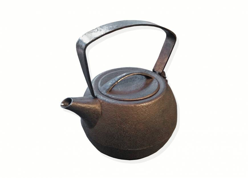 A cast-iron teapot in Tokyo's kitchenware district