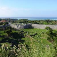 From the heights of Nakijin Gusuku is a spectacular view of castle's outer defenses and the sea beyond. | MANDY BARTOK