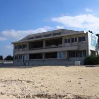 On the Beach Cafe sits on its own strip of sand.   MANDY BARTOK