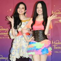 Wax ecstatic: TV personality Becky attends the unveiling of her wax figure statue at Madame Tussauds in Tokyo last month. The star has had a rocky start to 2016 after being caught in a scandal with Gesu no Kiwami Otome singer Enon Kawatani. | KYODO