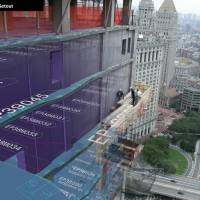 An annotataed overlay of a photot shows how Gehry Technologies' Digital Project software allows architects to communicate detailed instructions to construction firms. | COURTESY OF GEHRY PARTNERS, LLP