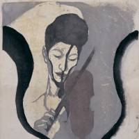 'Impression of a Violinist (Portrait of Suwa Nejiko)' (1946) | THE NATIONAL MUSEUM OF MODERN ART, TOKYO