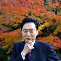 The man who fell to Earth: Former Prime Minister Yukio Hatoyama is pictured at the International House of Japan in Tokyo before his interview with The Japan Times last month. | YOSHIAKI MIURA