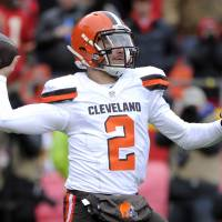 Browns quarterback Johnny Manziel will no longer work with LeBron James' marketing group. | AP