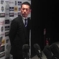 West coach Honoo Hamaguchi speaks after the game on Sunday. | ED ODEVEN