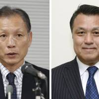 Hiromi Hara (left) and Kozo Tashima were on Friday confirmed as the only two candidates to become the Japan Football Association's next president. | KYODO