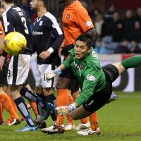Eiji Kawashima hopes to help his new team, Dundee United, avoid relegation in the Scottish Premier League. | REUTERS