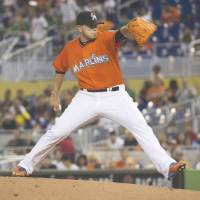 Miami Marlins ace Jose Fernandez, who missed much of last season while rehabilitating from surgery, avoided arbitration by agreeing to a one-year, $2.8 million deal with the team on Friday. | AP