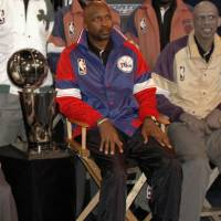 The late Moses Malone, a three-time NBA MVP and the best offensive rebounder of all time, got his start in the ABA before competing against Kareem Abdul-Jabbar (right) and other legends in the NBA. | WIKIMEDIA COMMONS