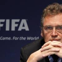 Former FIFA secretary general Jerome Valcke attends a news conference in Zurich in this November 2010 file photo. | REUTERS