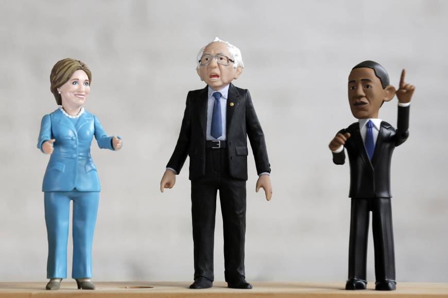 Fan orders pour in for slouching, pointing Bernie Sanders action toy