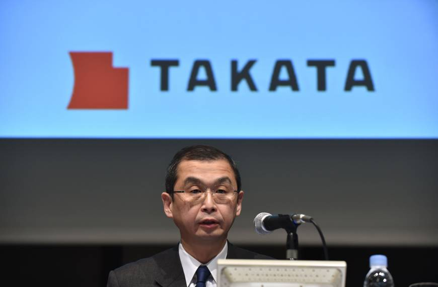 Takata asks automakers to shoulder portion of air bag recall costs