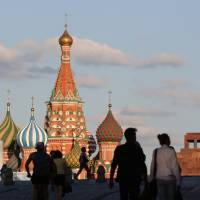 World-famous landmark: St. Basil's Cathedral is a global icon in the Red Square area of Moscow. Treat yourself and your date to a lavish breakfast under the decorated dome of the Metropol. | BLOOMBERG